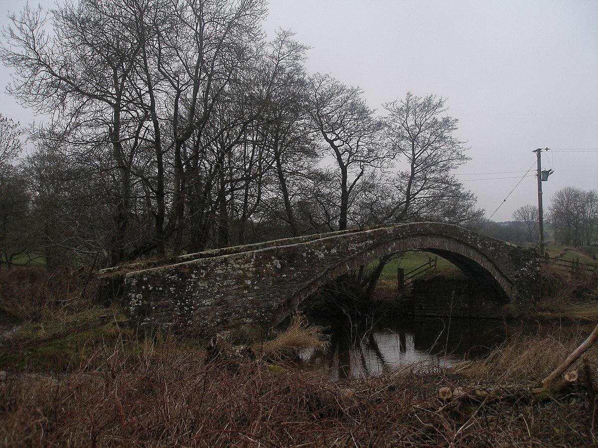 Packhorse bridge at Calva Hall - geograph.org.uk - 2778915.jpg