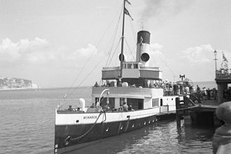 Isle of Wight ferry services - As Monarch at Swanage Pier