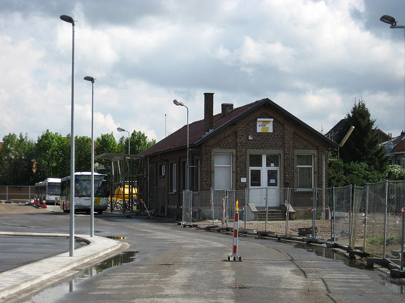 Old vicinal depot at Paduwa (Evere), now used as a busdepot for De Lijn.