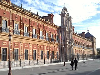 Palacio de San Telmo cultural property in Sevilla, Spain