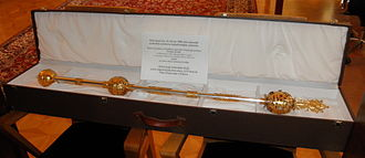 Palacký University - 1998 copy of Olomouc University Rector's Mace - the original from ca. 1572 is as of 2013 still held by the Innsbruck University
