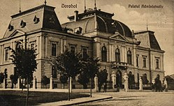 The Dorohoi County Prefecture building of the interwar period.