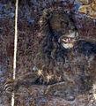 Palazzo schifanoia, salone dei mesi, 07 luglio (maestro dagli occhi spalancati), leone 02 1.jpg