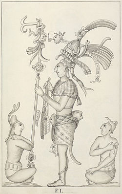 Drawing of a Palenque relief