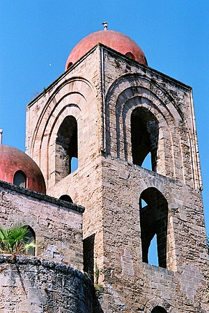 Detail of the bell tower.