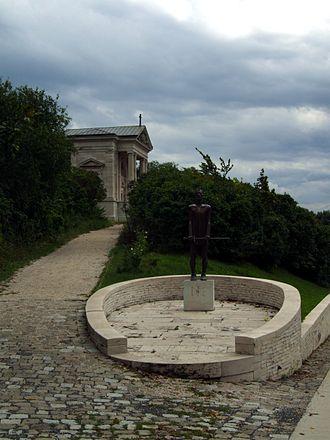 Pannonhalma Archabbey - Millennium Monument (on the left)