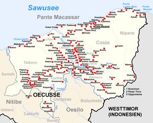 Pante Macassar - Map of Pante Macassar subdistrict