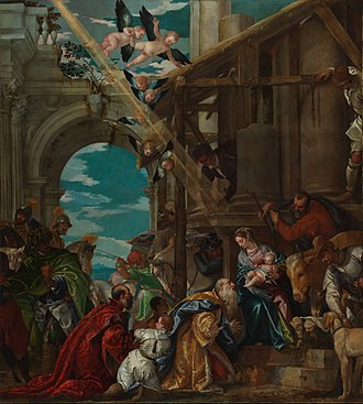 Adoration of the Magi (Veronese) - Image: Paolo Veronese Adoration of the Magi National Gallery