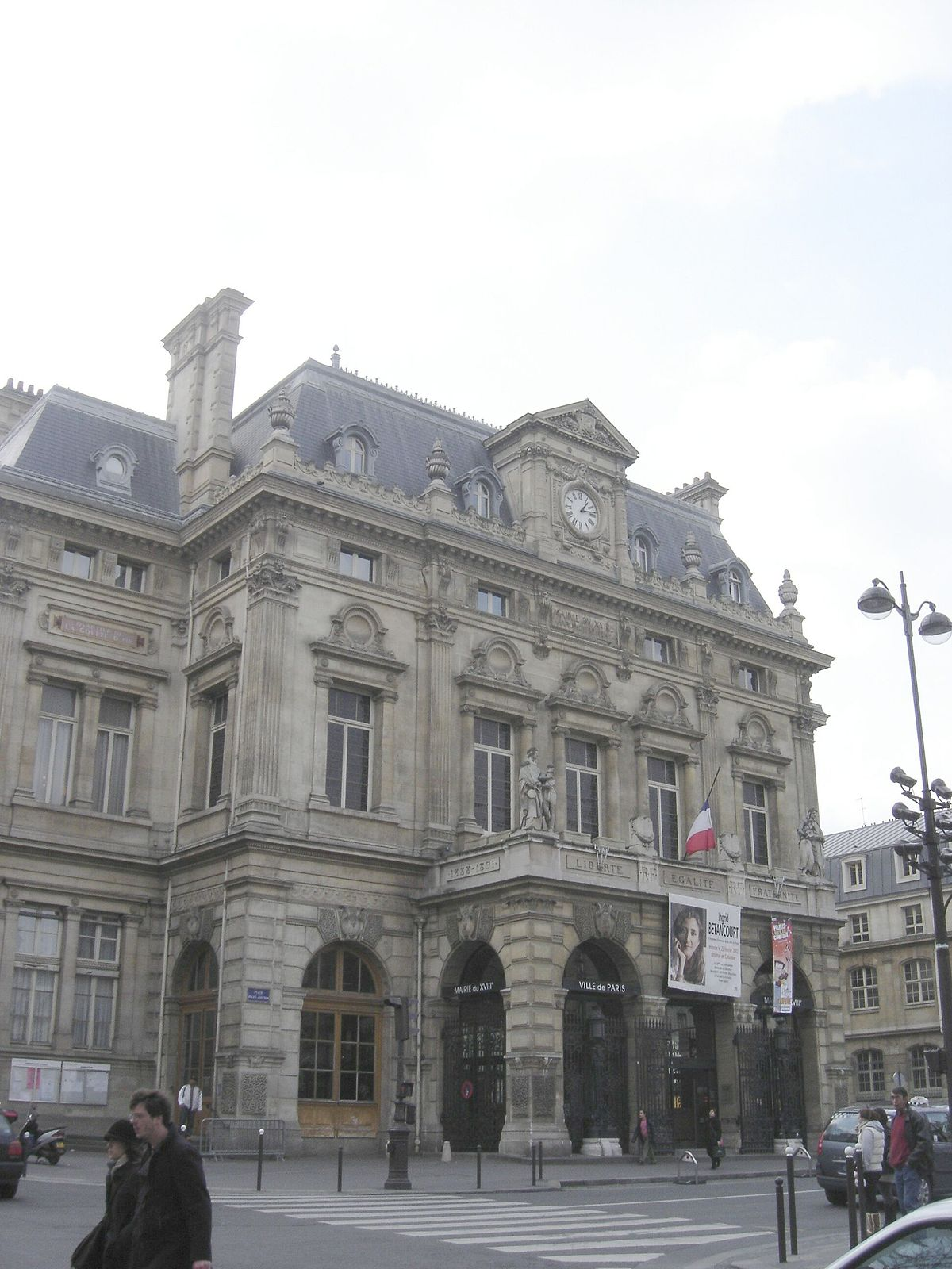 mairie du 18e arrondissement de paris wikip dia. Black Bedroom Furniture Sets. Home Design Ideas