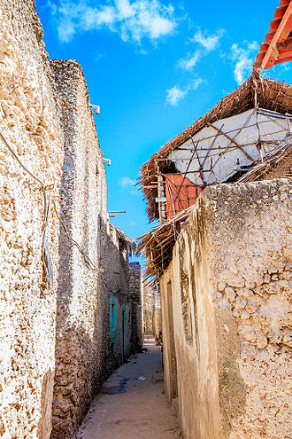 Pate Island - The narrow streets of Pate town are similar to those in other towns on the island