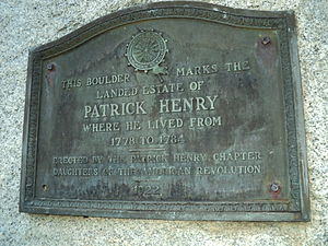 English: Marker on stone monument to Virginia ...