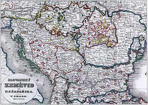 Matice česká - Map of Balkans by Pavel Josef Šafařík published by Matice česká