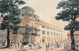 François Debret - Image: Pavillon de Hanovre, boulevard des Italiens, par François Debret