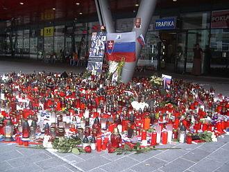 Pavol Demitra - Tribute to Pavol Demitra, Ondrej Nepela Arena, Bratislava, Slovakia.