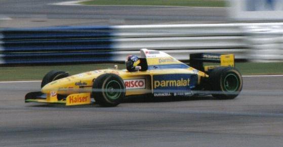 Pedro Diniz Forti 1995 Britain (crop)