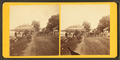 People working in front of Ladies' Reception Hall?, from Robert N. Dennis collection of stereoscopic views.png