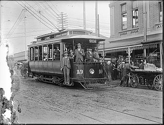 Trams in Perth - Opening of the William and Wellington Streets line, 1902.