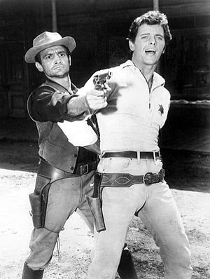 Richard Bakalyan - L-R: Richard Bakalyan and Peter Brown in Lawman (1961)