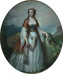 Portrait of Dora d'Istria by Petre Mateescu (1876)