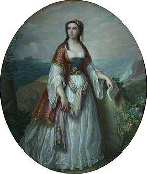 Dora d'Istria - Portrait of Dora d'Istria by Petre Mateescu (1876)