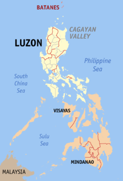 Map of the Philippines with Batanes highlighted