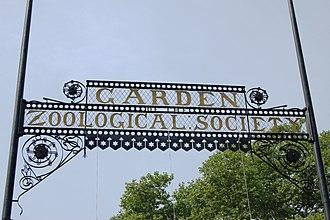 Philadelphia Zoo - The gate above the zoo's entrance