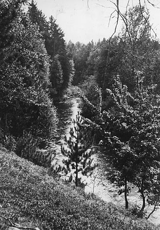 Indian River (Manistique River tributary) - Image: Photograph of Indian River Camp and Picnic Ground NARA 2127930