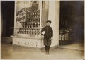 Photograph of Joseph Bernstein, a ten year old news-boy who had been selling in saloons along the way, said he makes... - NARA - 306622.tif