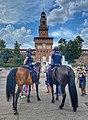 Piazza Castello Polizia a Cavallo.jpg