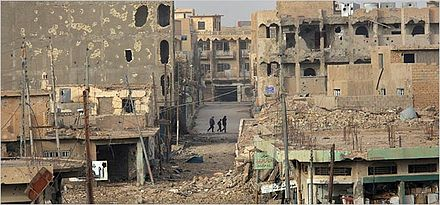 A city street in Ramadi heavily damaged by the fighting in 2006 Pic of ramadi.jpg