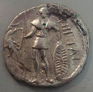 Pictones - Pictones coin depicting warrior 1st century BC.