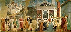 Piero, arezzo, Discovery and Proof of the True Cross 01.jpg