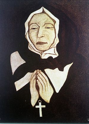 Congregation of Notre Dame of Montreal - La Venerable Marguerite Bourgeoys by Pierre Le Ber in the possession of the Sisters of the Congregation of Notre Dame, Montreal