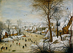 Pieter Brueghel the Younger: Winter Landscape with Bird Trap