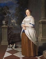 Portrait of Anna Splinter, wife of Johan Hulshout (1623–1687)