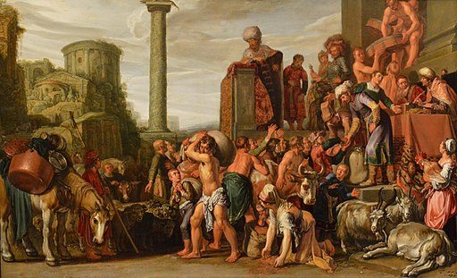 Pieter Lastman - Joseph Selling Corn in Egypt (1612) - NGI cr