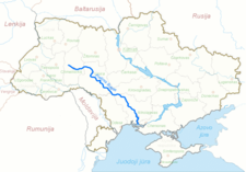 Donets River Map