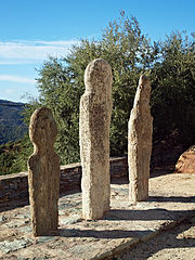 Piève statue menhirs