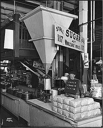 Pike Place Market - Sugar vendor, 1917