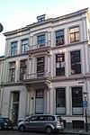 foto van Pand, dat als hoekoplossing een onderdeel vormt van de in het derde kwart van de 19e eeuw als een symmetrisch geheel ontworpen zuidwand van de keizerstraat