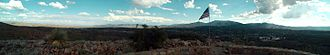 Pinal Mountains - Panorama of the Pinal Mountains and  the surrounding area. The mountains are the prominent range on the right.