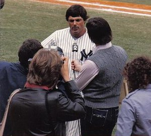 Lou Piniella - Piniella, age 39, speaks to the media during spring training in 1983