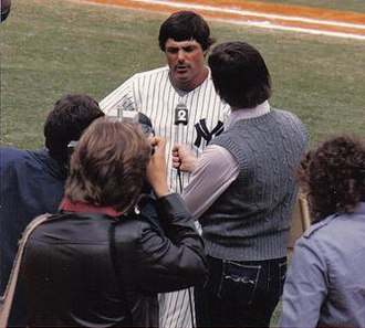Lou Piniella - Piniella, age 39, speaks to a WCBS-TV reporter during spring training in 1983