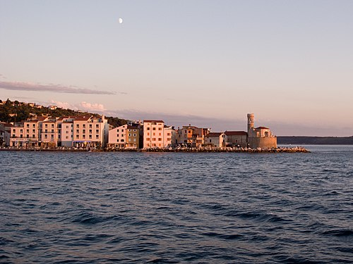 Piran sunset, August 2007