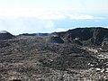 Piton de la Fournaise Nouveau cratère né le 10 octobre 2006.jpg