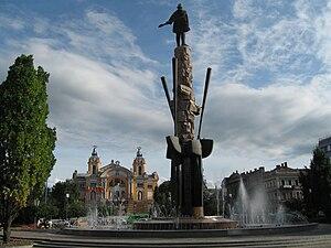 Place Avram Iancu & Theatre National, Cluj-Napoca