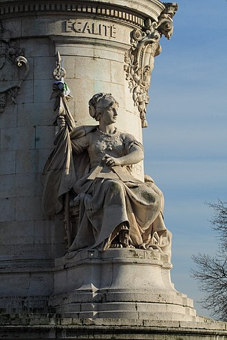 Equality before the law - Statue of Equality in Paris as an allegory of equality