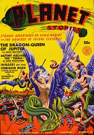 "Leigh Brackett - Brackett's ""The Dragon-Queen of Jupiter"" was the cover story in the Summer 1941 issue of Planet Stories."