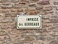 Plaque Impasse Gerbeaux - Solutré-Pouilly (FR71) - 2021-03-02 - 2.jpg