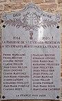 Plaque morts WWI Intérieur église St Cyr Menthon 8.jpg